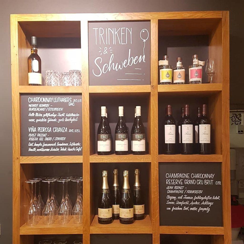 Weinkarte auf Tafel - Kopf Ahoi