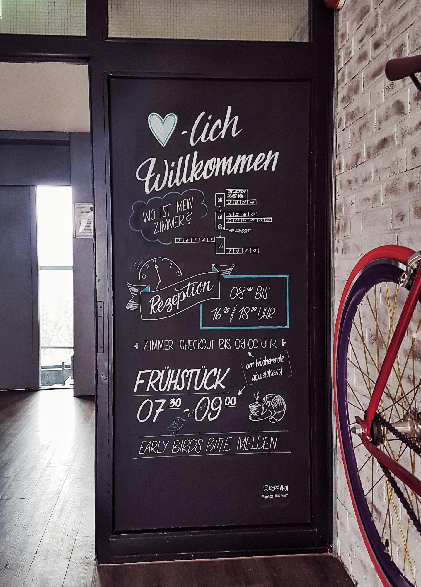 Info-Tafel für Gästehaus - Kopf Ahoi