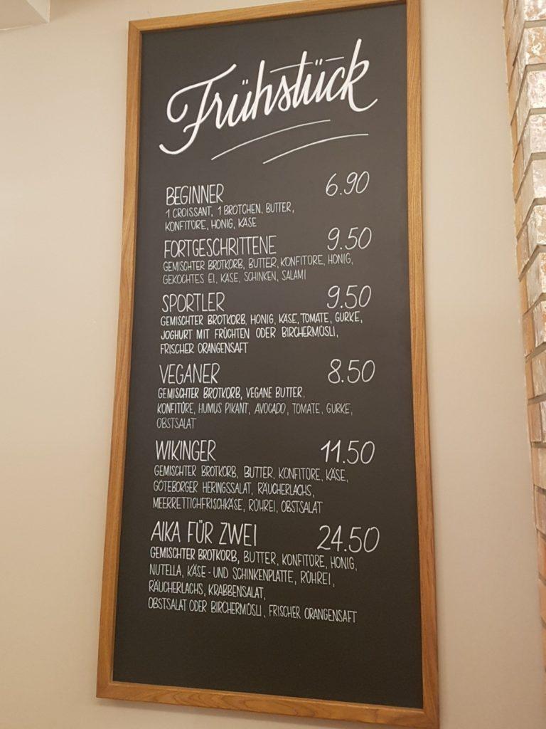 Frühstücksangebot Tafel - Kopf Ahoi