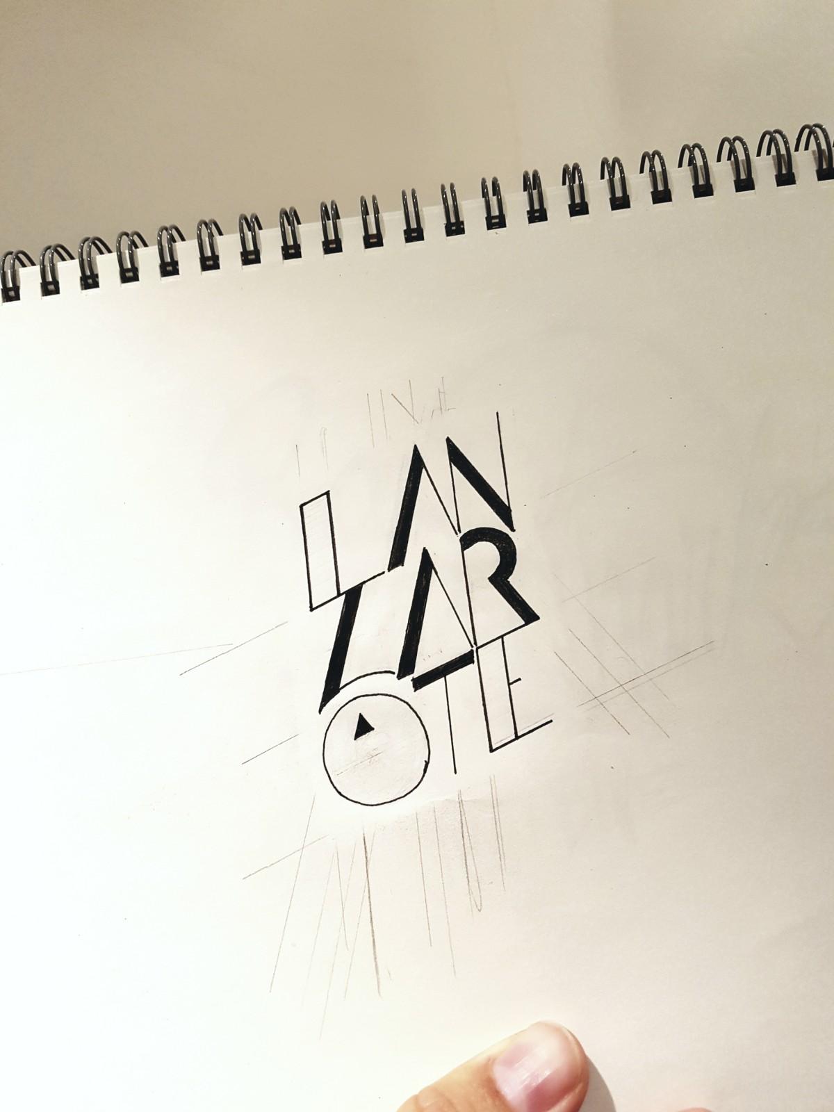 Skizze Sketchbook Lettering - Kopf Ahoi