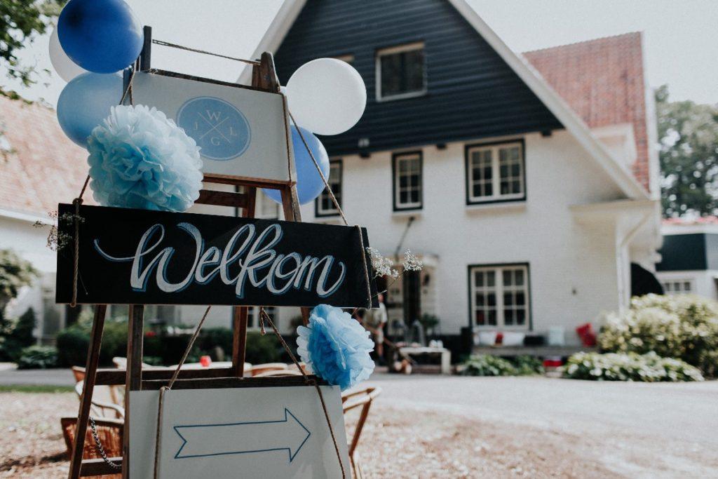 Willkommen Schild Hochzeit - Kopf Ahoi